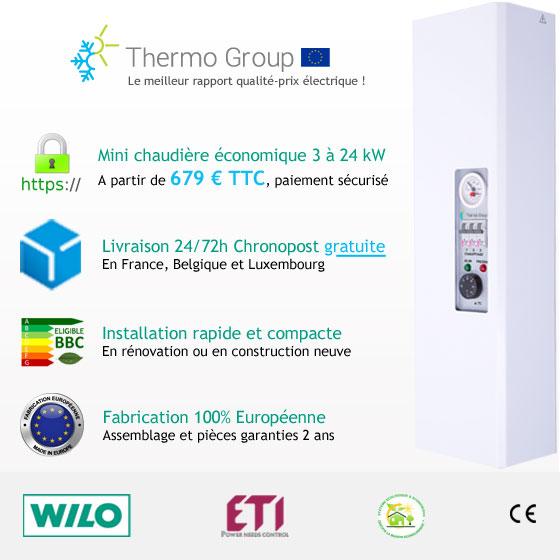 Chaudière électrique Thermo group